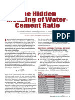 The Hidden Meaning of Water-Cement Ratio