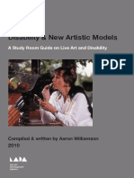 Disability & New Artistic Models