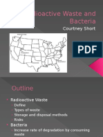 Radioactive Waste and Bacteria