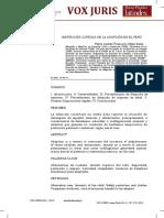 Regimen Jurídico de La Adopción en El Peru