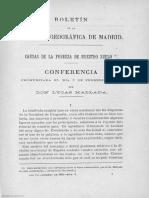 Boletín de La Sociedad Geográfica de Madrid Tomo XII Año VII Número 2 - 1882 Febrero - 1000014435