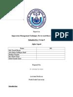 Impression Management Technique
