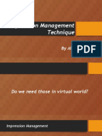 Impression Management Technique ppt.