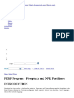 Phosphate & NPK Fertilizer Technology, Production Cost, Supply_Demand