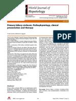 Cirrosis Biliar Primaria Fisiopatología Presentación Clínica y La Terapia