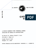 Adelman, Lester, Rogers - 1973 - A Finite Element for Thermal Stress Analysis of Shells of Revolution