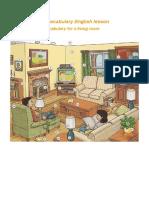 Living Room Vocabulary English Lesson