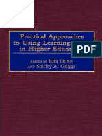 Dunn, Griggs-Practical Approaches to Using Learning Styles in Higher Education