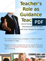 Ordinary Teacher as Guidance Teacher