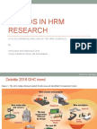 Trends in HRM Research