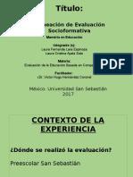 FORMATO. Planeacion de La Evaluacion Lauras