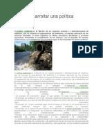 Cómo Desarrollar Una Política Ambiental