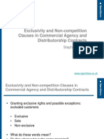 SIDKIN Stephen - Exclusivity and Non-competition Clauses in Commercial Agency and Distributorship Contra
