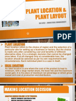 Plant Location Layout