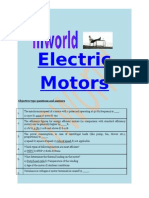 Electric Motors Some Basic Notes