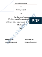 Mech Car Parking Systems Project Report