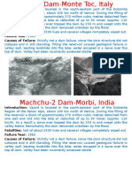 Major Dam Failures