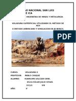 Trabajo de Jk Bench de Voladura II Viii Ciclo Minas 2015