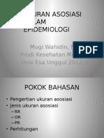 Pertemuan 10 Ukuran Asosiasi Epidemiologi Wahid