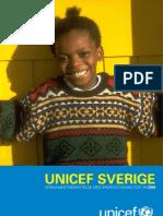 Verksamhetsberättelse UNICEF Sverige 2009