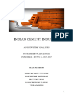 Indian Cement Industry Analysis - 2016