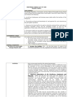 Renewable Energy Act of 2008 Summary