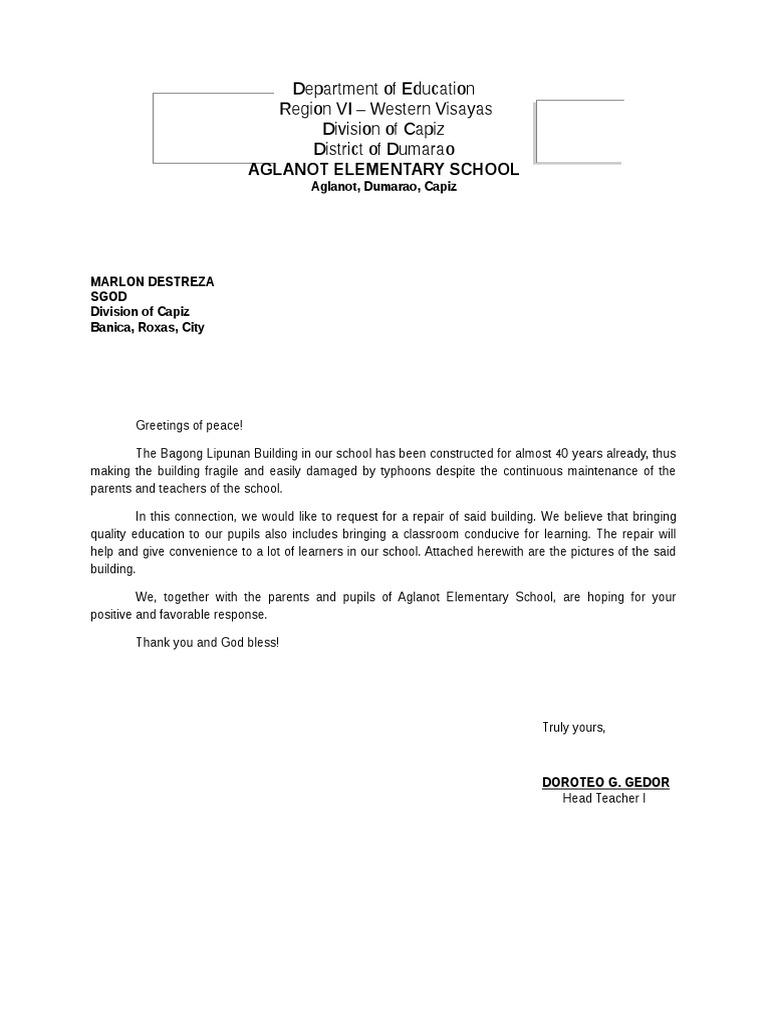 Aglanot Elementary School: Department of Education Region VI