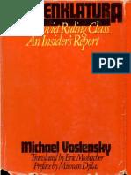 1984 VOSLENKY - Nomenklatura
