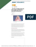 Katy Perry Divulga Prévia de Novo Single Acorrentada a Uma Bola de Discoteca _ Viver_ Diario de Pernambuco