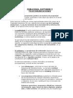 Publicidad, Software y Telecomunicaciones