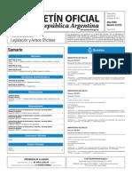 Boletín Oficial de la República Argentina, Número 33.572. 22 de febrero de 2017