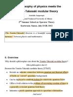 Arageorgis-The Philosophy of Physics Meets the Tomita-Takesaki Modular Theory (2012)