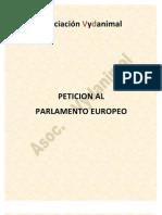 Plantilla para petición P.E. a nivel particular