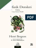 Henri Bergson - Metafizik Dersleri