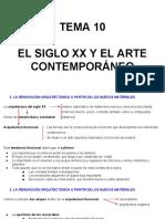 Tema 10- El Siglo Xx y El Arte Contemporaneo 2a Parte