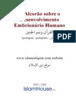 Portuguese O Alcorao Sobre o Desenvolvimento Embrionario Humano
