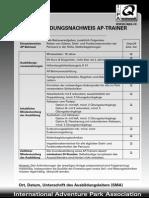 Iapa Zertifizierungsbogen Trainer