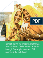 Opportunities to Improve Maternal Neonatal and Child Health in India Through Smartphones and 3g Connectivity Solutions