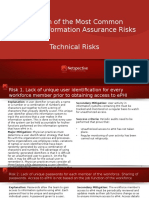Explanation of the Most Common Types of Technical Risks