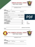 Membership Form'