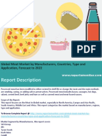 Global Meat Market by Manufacturers,Application Forecast to 2022