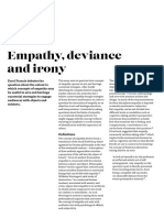 Empathy, Deviance and Irony