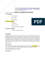 Modified Solar Report for photovoltaics