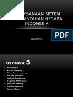 Pelaksanaan Sistem Pemerintahan Negara Indonesia