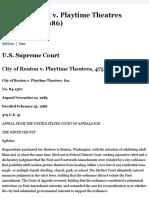 22 City of Renton v. Playtime Theatres
