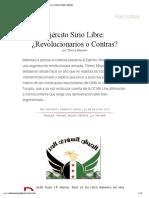 Ejército Sirio Libre_ ¿Revolucionarios o Contras_ [Red Voltaire]