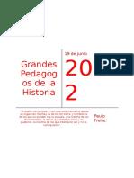 Grandes Pedagogos de La Historia.
