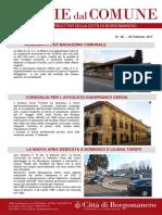 Notizie Dal Comune di Borgomanero del 23 Febbraio 2017