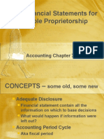 Financial Statements for a Sole Proprietorship (1)