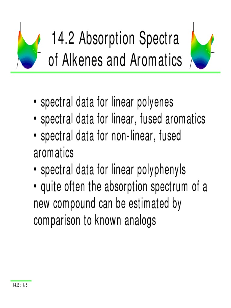 Absorption spectra alkenes and aromatics aromaticity chemistry malvernweather Choice Image